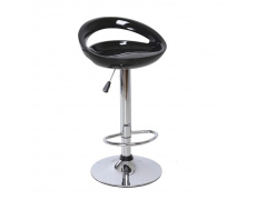 Barová židle, černá / chrom, DONGO NOVE