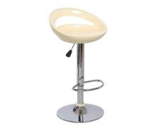 Barová židle, béžová / chrom, DONGO