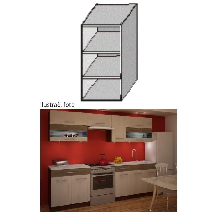 Kuchyňská skříňka poličkový, wenge, JURA NEW IA GO-30