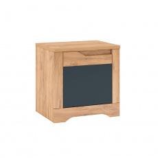 Noční stolek, dub craft zlatý/grafit šedá, levá, FIDEL X1