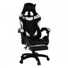 Kancelářské / herní křeslo, černá / stříbrná, KRISTOF NEW