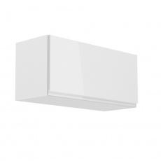 Horní skříňka, bílá / bílý extra vysoký lesk, AURORA G80K