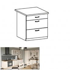 Spodní šuplíková skříňka, bílá/sosna skandinávská, ROYAL D80S3