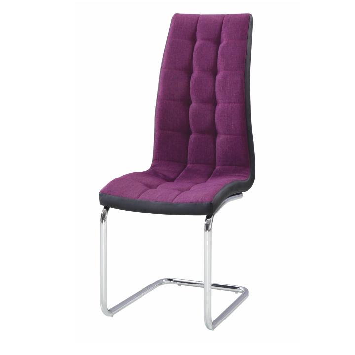 Jídelní židle, fialová / černá / chrom, SALOMA NEW