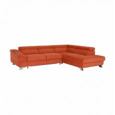 Rohová rozkládací sedačka, látka Orinoco terakota, pravá, LEGAS