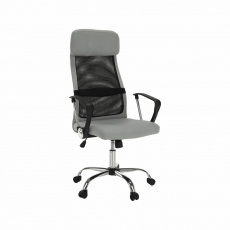 Kancelářské křeslo, šedá/černá, FABRY NEW