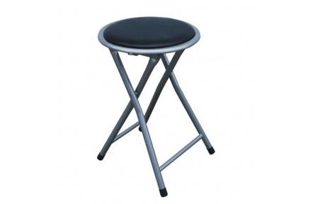 Skládací taburet / stolička, černá, IRMA