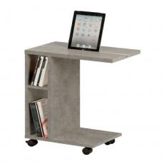 Příruční stolek, světlý beton, NIDEN