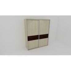 Nábytek Mikulík Vranovice FLEXI 2 220 2x dveře dělené LTD Barva dekor dřeva Dekor LTD