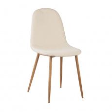 Židle, béžová Dulux Velvet látka / buk, LEGA