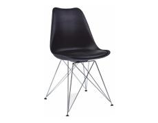 Židle, černá + chromové nohy, METAL NEW