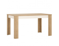 Jídelní stůl LYOT03, rozkládací, dub riviera / bílá, LEONARDO