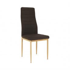 Židle, tmavohnědá látka / kov, COLETA NOVA