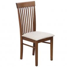 Židle, ořech / světlehnědá látka, ASTRO NEW