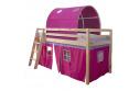 Postel se zvýšeným lůžkem, přírodní / růžová, 90x200 cm, INDIGO