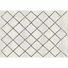 Koberec, béžová/vzor, 67x120, MATES TYP 2