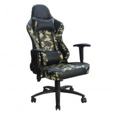 Kancelářské / herní křeslo, černá / Army vzor, ARMYRE