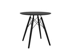Kulatý jídelní stůl, černá, MONTY
