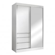 Skříň s posuvnými dveřmi, bílá, 140, ROMUALDA
