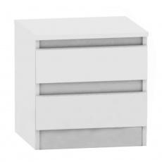 2 šuplíkový noční stolek, bílá, HANY NEW 002