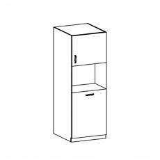Potravinová skříňka, bílá/sosna skandinávská, ROYAL D60P