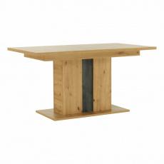 Jídelní rozkládací stůl, dub artisan / šedý beton, ERIDAN