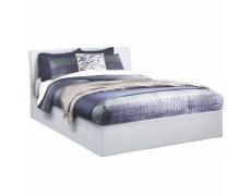 Manželská postel s úložným prostorem, bílá, 180x200, KERALA