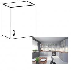 Horní skříňka, bílá / šedá matná, pravá, LAYLA G601F