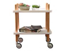 Servírovací vozík, přírodní/bílá, PONTO