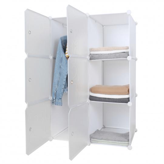 Praktická modulární skříň, bílá / vzor, ZERUS