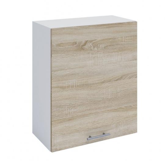 Horní skříňka, dub sonoma / bílá, FABIANA W - 60