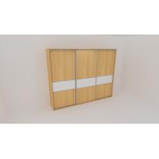Skříň FLEXI 3 š.260cm v.220cm : 3x dveře dělené sklem LACOBEL