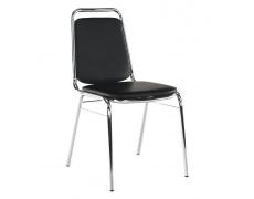Zasedací židle, černá ekokůže, ZEKI