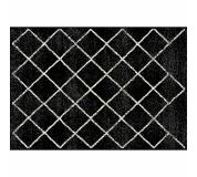 Koberec, černá/vzor, 67x120 cm, MATES TYP 1