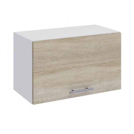 Horní skříňka, dub sonoma / bílá, FABIANA W - 60OK