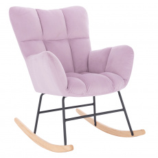 Designové houpací křeslo, růžová, KEMARO
