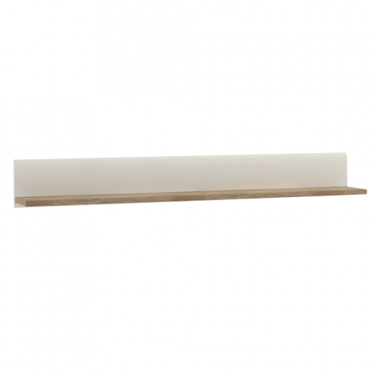 Police, bílá extra vysoký lesk HG/dub sonoma tmavý truflový, LYNATET TYP 60