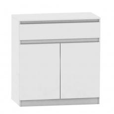 2 dveřová komoda s jedním šuplíkem, bílá, HANY NEW 007