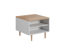 Konferenční stolek, bílá / buk pískový Laveli LL60