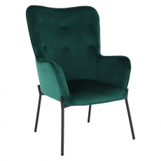 Designové křeslo, smaragdová Velvet látka, SURIL