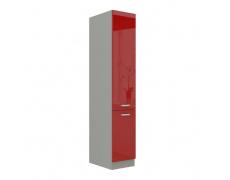 Skříňka potravinová vysoká, červený vysoký lesk, PRADO 40 DK-210 2F