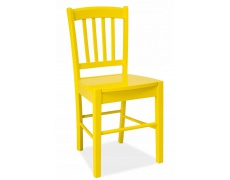 Jídelní židle CD 57 celodřevěná žlutá
