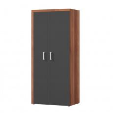 Věšáková skříň, švestka / šedý grafit, CHERIS 1
