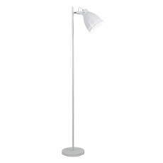 Stojací lampa, bílá / kov, AIDEN TYP 2