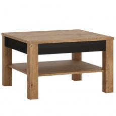 Konferenční stolek, dub lefkas tmavý / černý mat, LUCITA HAVT01