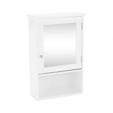 Závěsná skříňka se zrcadlem bílá, ATENE TYP 2
