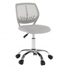 Otočná židle, šedá/chrom, SELVA