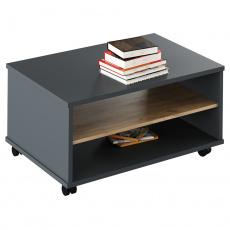 Konferenční stolek, grafit / dub artisan, RIOMA NEW TYP 32