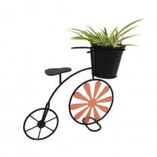 RETRO květináč ve tvaru kola, bordó / černá, SEMIL