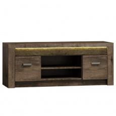 RTV stolek / skříňka, jasan tmavý, INFINITY I-09